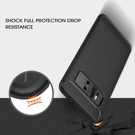 Asus Zenfone AR ZS571KL TPU Case Carbon Fiber Optik Brushed Schutz Hülle Grau – Bild 9