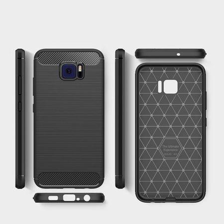 Asus Zenfone V V520KL TPU Case Carbon Fiber Optik Brushed Schutz Hülle Blau – Bild 6