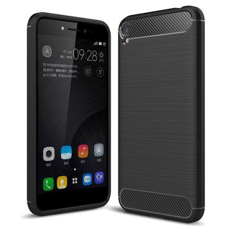 Asus Zenfone Live ZB501KL TPU Case Carbon Fiber Optik Brushed Schutz Hülle Schwarz