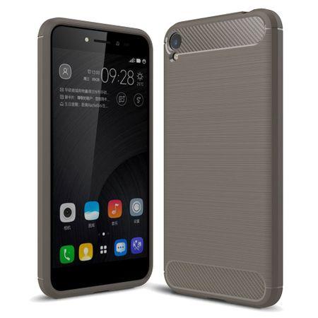 Asus Zenfone Live ZB501KL TPU Case Carbon Fiber Optik Brushed Schutz Hülle Grau
