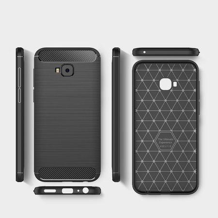 Asus Zenfone 4 Selfie ZD553KL TPU Case Carbon Fiber Optik Brushed Schutz Hülle Schwarz – Bild 7