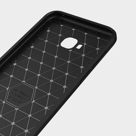 Asus Zenfone 4 Selfie ZD553KL TPU Case Carbon Fiber Optik Brushed Schutz Hülle Grau – Bild 5