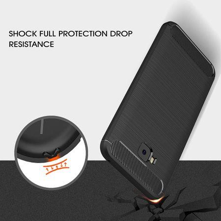 Asus Zenfone 4 Selfie ZD553KL TPU Case Carbon Fiber Optik Brushed Schutz Hülle Grau – Bild 9