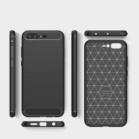 Asus Zenfone 4 Pro ZS551KL TPU Case Carbon Fiber Optik Brushed Schutz Hülle Blau – Bild 6