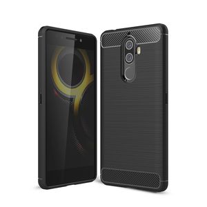 Lenovo K8 Note TPU Case Carbon Fiber Optik Brushed Schutz Hülle Schwarz