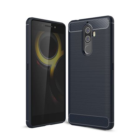 Lenovo K8 Note TPU Case Carbon Fiber Optik Brushed Schutz Hülle Blau