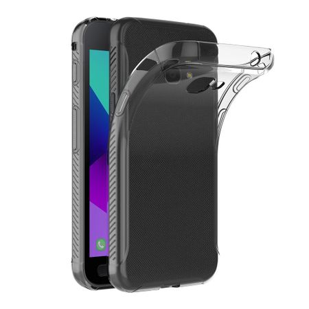 Samsung Galaxy Xcover 4 Transparent Case Hülle Silikon