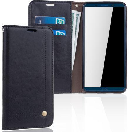 Handy Hülle Schutz Tasche für Huawei Mate 10 Pro Cover Wallet Etui Schwarz – Bild 1
