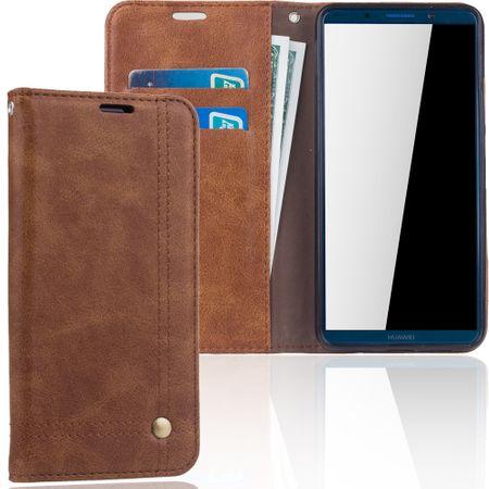 Handy Hülle Schutz Tasche für Huawei Mate 10 Pro Cover Wallet Etui Braun – Bild 1
