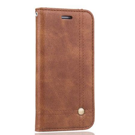 Handy Hülle Schutz Tasche für Apple iPhone 7 Cover Wallet Etui Braun – Bild 3