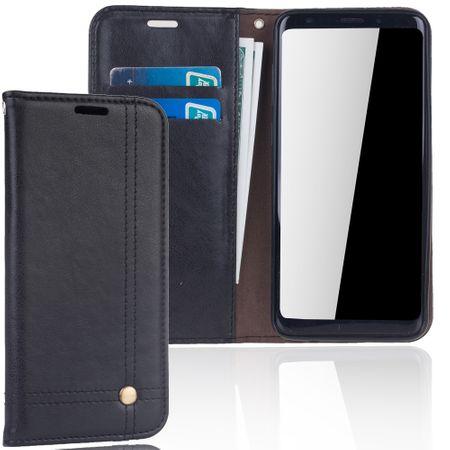 Handy Hülle Schutz Tasche für Samsung Galaxy S9 Cover Wallet Etui Schwarz – Bild 1