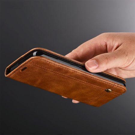 Handy Hülle Schutz Tasche für Sony Xperia XA2 Cover Wallet Etui Braun – Bild 4