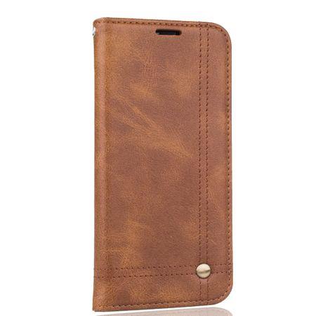 Handy Hülle Schutz Tasche für Wiko Lenny 4 Plus Cover Wallet Etui Braun – Bild 3