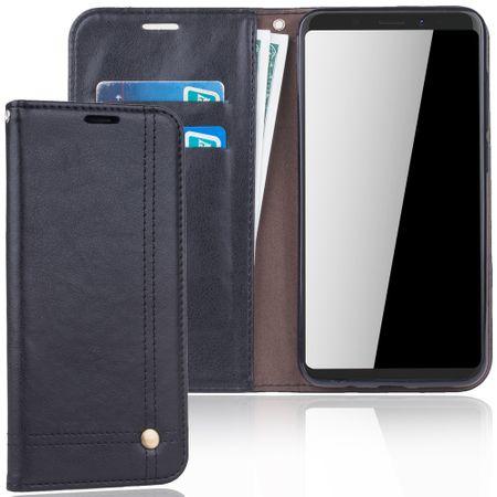 Handy Hülle Schutz Tasche für Wiko View XL Cover Wallet Etui Schwarz