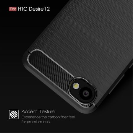 HTC Desire 12 Hülle Silikon Blau Carbon Optik Case TPU Handyhülle Bumper 211755 – Bild 6