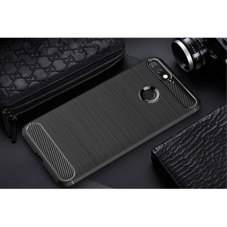 Huawei Honor 7A Hülle Silikon Schwarz Carbon Optik Case TPU Handyhülle Bumper 211775 – Bild 2