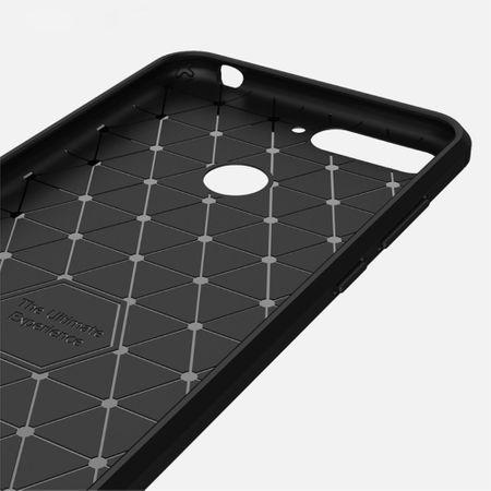 Huawei Honor 7A Hülle Silikon Schwarz Carbon Optik Case TPU Handyhülle Bumper 211775 – Bild 5