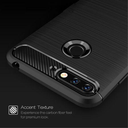 Huawei Honor 7A Hülle Silikon Schwarz Carbon Optik Case TPU Handyhülle Bumper 211775 – Bild 6