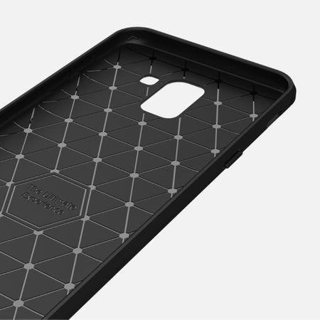 Samsung Galaxy J6 Hülle Silikon Blau Carbon Optik Case TPU Handyhülle Bumper 211782 – Bild 6
