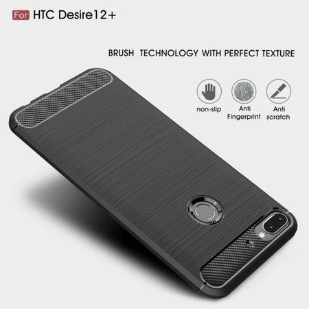 HTC Desire 12 Plus Hülle Silikon Blau Carbon Optik Case TPU Handyhülle Bumper 211791 – Bild 6