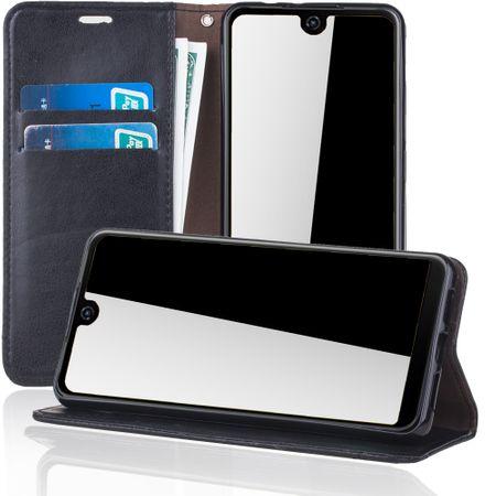 Handy Hülle Schutz Tasche für Wiko View 2 Cover Wallet Etui Schwarz – Bild 2