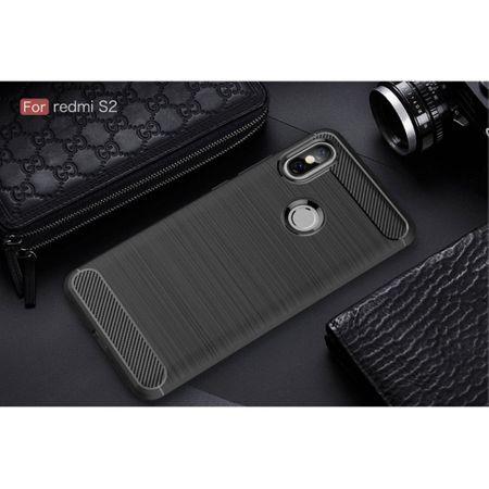 Xiaomi Redmi S2 / Y2 Hülle Silikon Schwarz Carbon Optik Case TPU Handyhülle Bumper – Bild 2