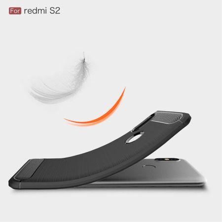 Xiaomi Redmi S2 / Y2 Hülle Silikon Schwarz Carbon Optik Case TPU Handyhülle Bumper – Bild 3