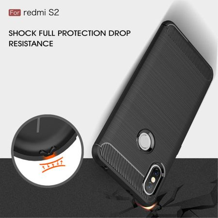 Xiaomi Redmi S2 / Y2 Hülle Silikon Schwarz Carbon Optik Case TPU Handyhülle Bumper – Bild 7