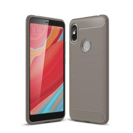 Xiaomi Redmi S2 / Y2 Hülle Silikon Grau Carbon Optik Case TPU Handyhülle Bumper
