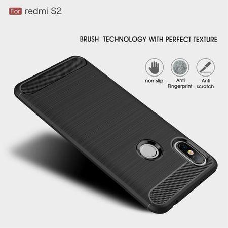Xiaomi Redmi S2 / Y2 Hülle Silikon Grau Carbon Optik Case TPU Handyhülle Bumper – Bild 4