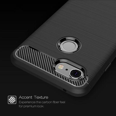 Google Pixel 3 Hülle Silikon Schwarz Carbon Optik Case TPU Handyhülle Bumper – Bild 4