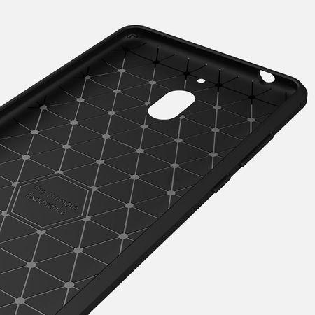 Nokia 2.1 Hülle Silikon Schwarz Carbon Optik Case TPU Handyhülle Bumper – Bild 5