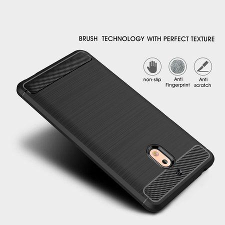 Nokia 2.1 Hülle Silikon Blau Carbon Optik Case TPU Handyhülle Bumper – Bild 3