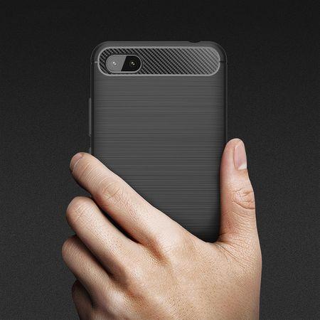 Xiaomi Redmi 6A Hülle Silikon Schwarz Carbon Optik Case TPU Handyhülle Bumper – Bild 8