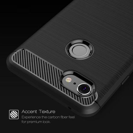 Google Pixel 3 XL Hülle Silikon Schwarz Carbon Optik Case TPU Handyhülle Bumper – Bild 4