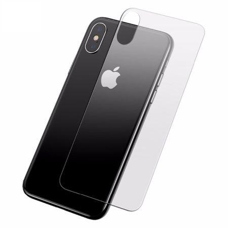 Apple iPhone XS Max Panzer Schutz Glas Rückseite Back Hinten Schutzglas Echtglas Transparent – Bild 1
