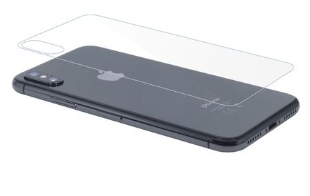 Apple iPhone XS Panzer Schutz Glas Rückseite Back Hinten Schutzglas Echtglas Transparent