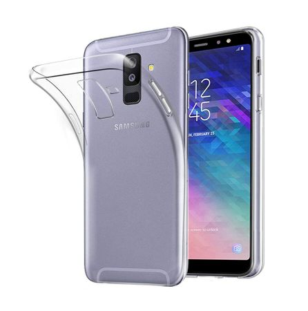Samsung Galaxy A6+ Plus 2018 Transparent Case Hülle Silikon