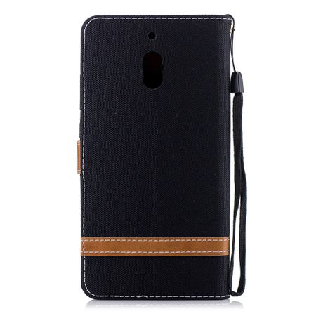 Tasche für Nokia 2.1 Jeans Cover Handy Schutz Hülle Case Schwarz – Bild 3