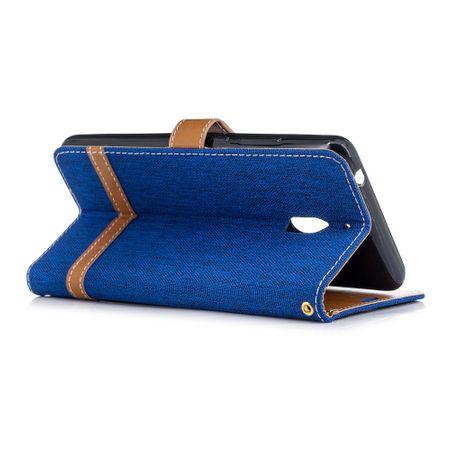 Tasche für Nokia 2.1 Jeans Cover Handy Schutz Hülle Case Blau – Bild 4