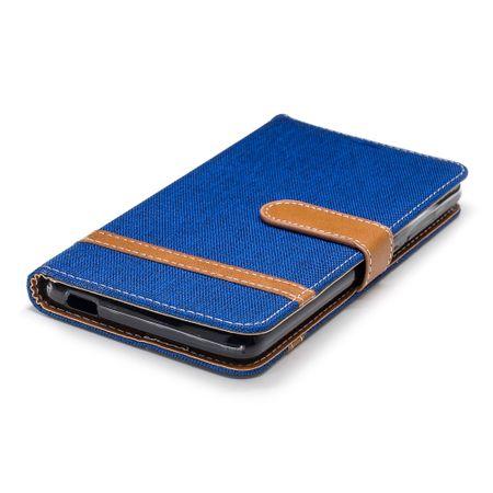 Tasche für Nokia 2.1 Jeans Cover Handy Schutz Hülle Case Blau – Bild 6
