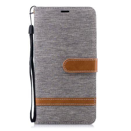 Tasche für Nokia 2.1 Jeans Cover Handy Schutz Hülle Case Grau – Bild 2