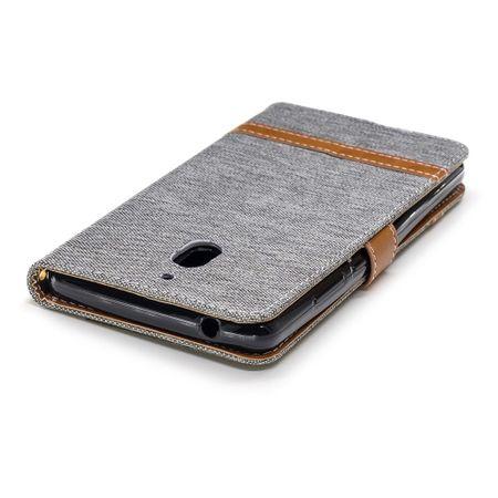 Tasche für Nokia 2.1 Jeans Cover Handy Schutz Hülle Case Grau – Bild 7