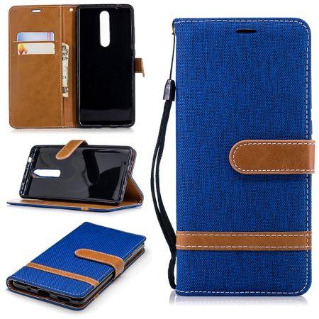 Tasche für Nokia 5.1 Jeans Cover Handy Schutz Hülle Case Blau
