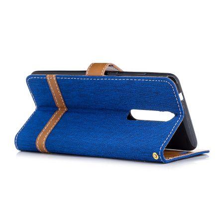 Tasche für Nokia 5.1 Jeans Cover Handy Schutz Hülle Case Blau – Bild 4