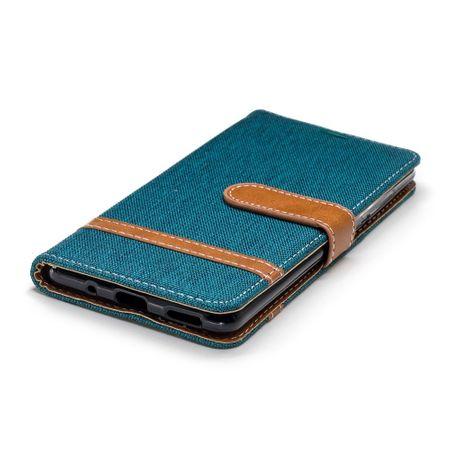 Tasche für Nokia 5.1 Jeans Cover Handy Schutz Hülle Case Grün – Bild 6
