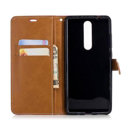 Tasche für Nokia 5.1 Jeans Cover Handy Schutz Hülle Case Pink – Bild 8