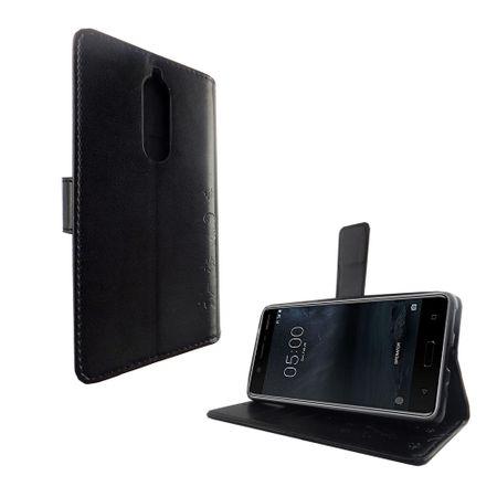 Handyhülle für Nokia 5.1 / Nokia 5 2018 Tasche Wallet Schutz Cover Etuis Schwarz – Bild 2