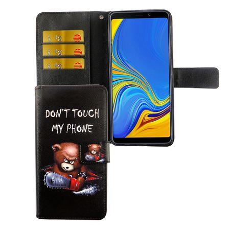 Samsung Galaxy A7 2018 Tasche Handy-Hülle Schutz-Cover Flip-Case mit Kartenfach  Don't touch my phone – Bild 4