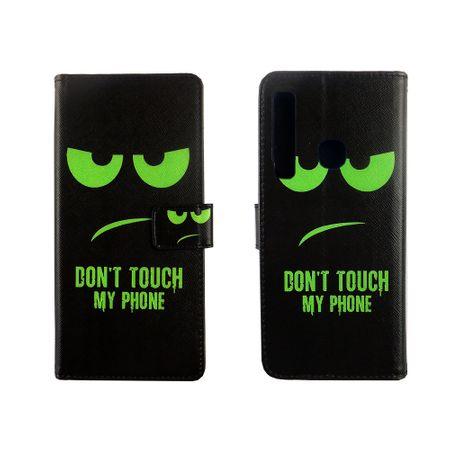 Samsung Galaxy A9 2018 Tasche Handy-Hülle Schutz-Cover Flip-Case mit Kartenfach  Don't touch my phone – Bild 6